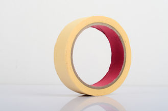 China Yellow Crepe Paper Automotive Masking Tape , Different Types Of Masking Tape supplier