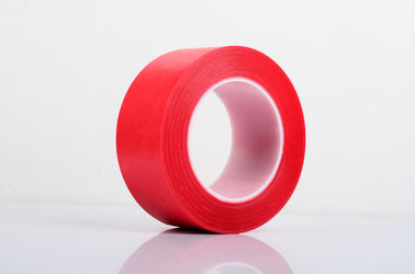 China PET Film With Crepe Paper Red Masking Tape Single Side Coating supplier