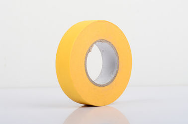 China Crepe Paper Material Yellow Masking Tape For Powder Spraying supplier
