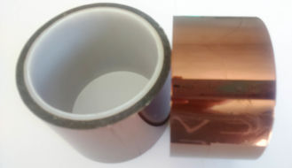 China 5.5 to 7.5N per 25mm Polyimide Kapton Tape Unique Combination Of Electrical Properties supplier