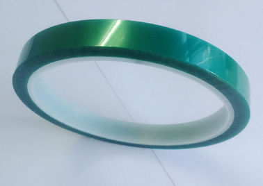 China ISO9001 Dark Green Polyester Tape 85um With Silicone Adhesive For Coating supplier