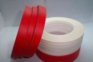 China Red Pet Composite Crepe Paper Masking Tape For High Temperature Resistant supplier