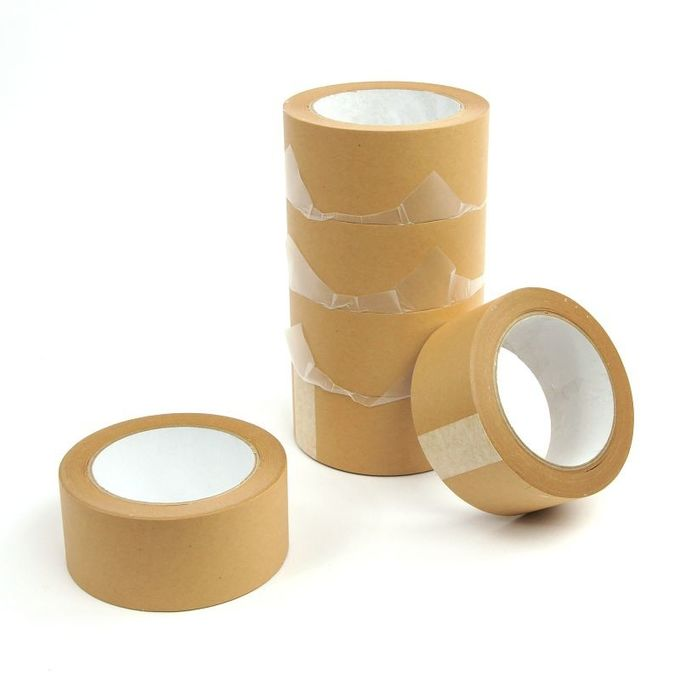 Bottom Release Liner Paper Splicing Tape 140Um Thickness Brown Color