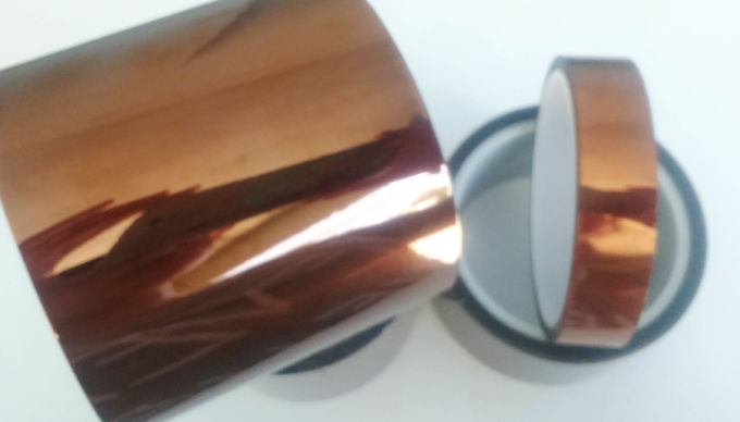 Silicone Adhesion Polyimide Kapton Tape , Brown Color Pi Adhesive Tape