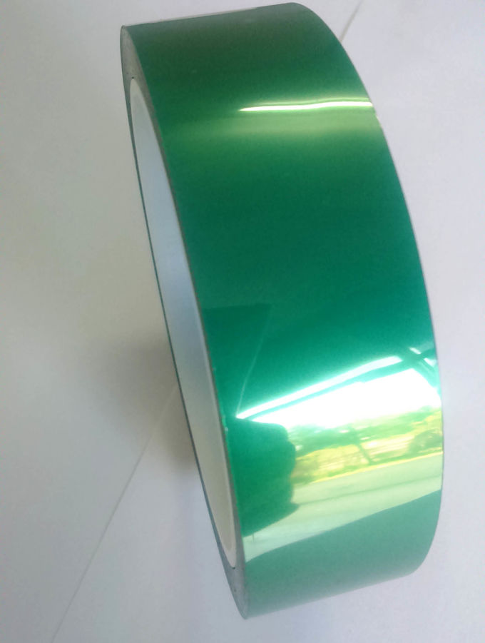 ISO9001 Dark Green Polyester Tape 85um With Silicone Adhesive For Coating