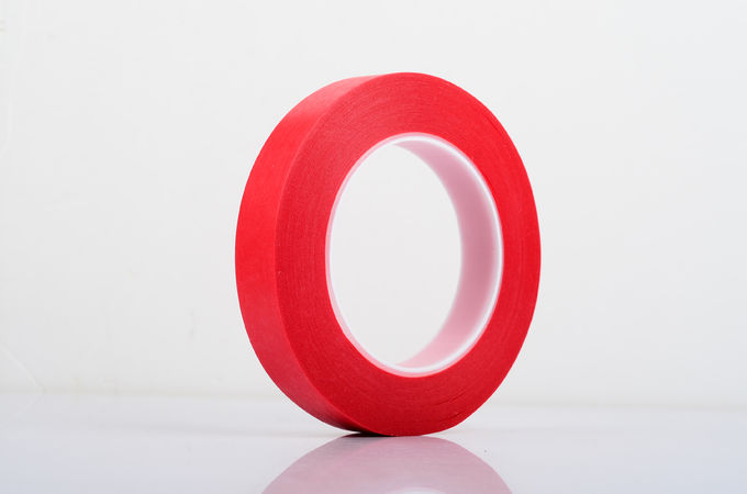 PET Film With Crepe Paper Red Masking Tape Single Side Coating